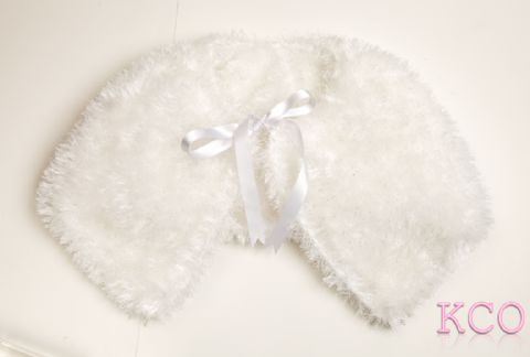 Fluffy Bolero Jacket White